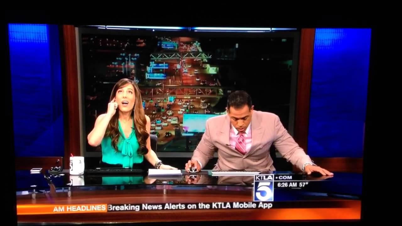Newsroom Channel 5 KTLA EARTHQUAKE!!!