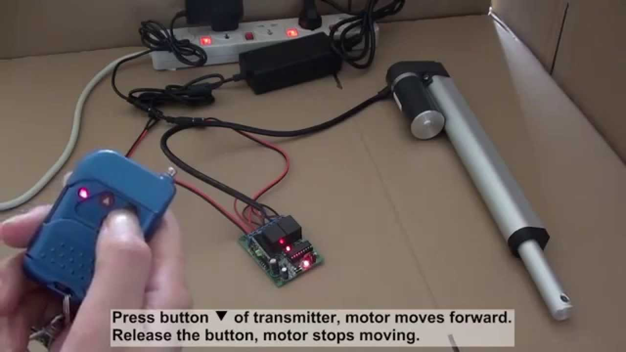 how to control linear actuator motor by ordinary 2ch rf remote control kit youtube [ 1280 x 720 Pixel ]