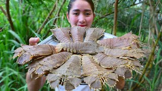 Yummy Lobster Cooking Fried Garlic - Lobster Cooking - Cooking With Sros