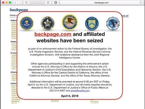 Backpage.com Seized by Government - LIVE BREAKING NEWS COVERAGE
