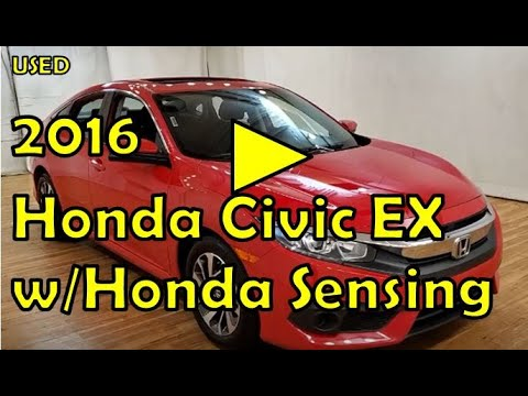 2016   Honda Civic EX w/Honda Sensing   MEDIA SCREEN MOONROOF REAR CAMERA   #Carvision