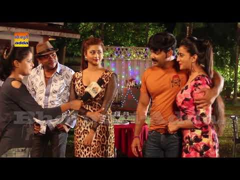 Bhojpuri Super Star Pawan Singh Video Song Shoot PAWAN RAJA Film With Hot Monalisa On Location