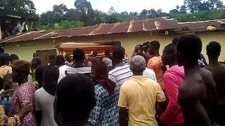 a flying coffin used as a weapon kills a person in cosrou ivory coast