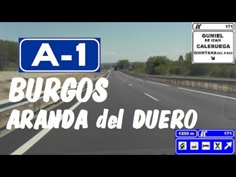 Download A-1 Burgos , Autovía del Norte , Tramo: Aranda del Duero  / A-1 highway , Burgos province , Spain.