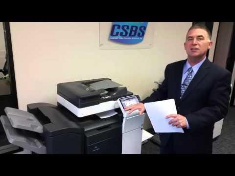 konica minolta bizhub c454 color copy print scan system youtube