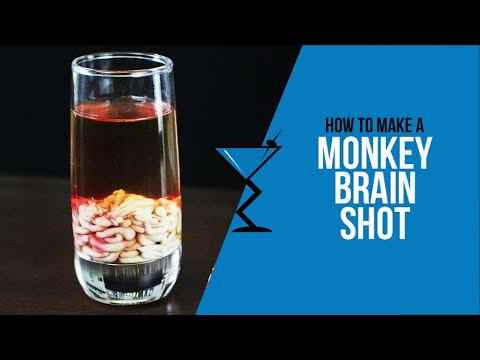 Monkey Brain Shot - How to make a Monkey Brain Cocktail Recipe for Halloween