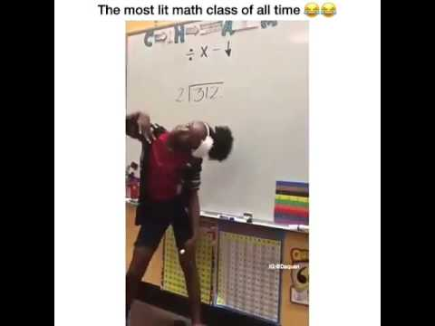 THEY MADE A SONG LIT MATH CLASS KIDS LEARN HOW TO (divide)  DO DIVISION BY RAPPING A SONG