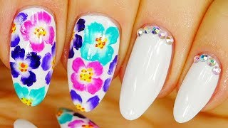 Nail Art. Colorful Flowers !!!