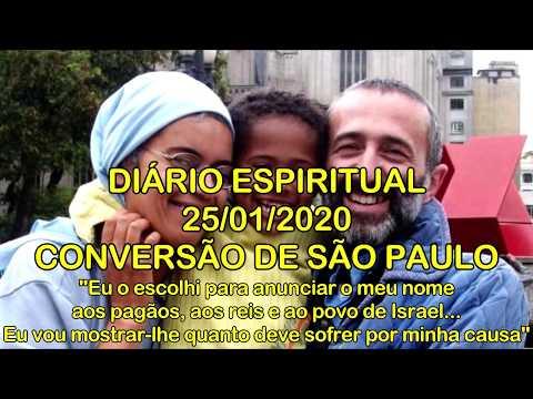 DIÁRIO ESPIRITUAL MISSÃO BELÉM - 25/01/2020 - At 22,3-16