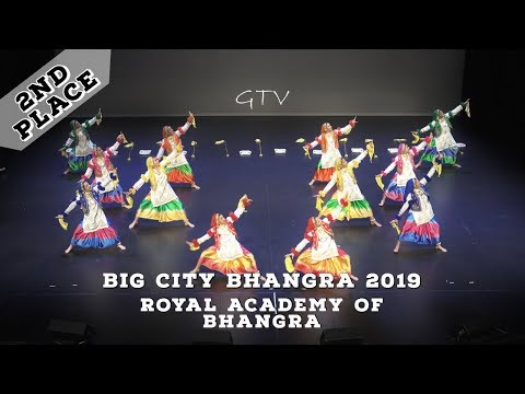 Royal Academy of Bhangra - Second Place  Big City Bhangra and Giddha Competition 2019