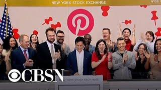 Shares of Pinterest soar on first day of trading on New York Stock Exchange
