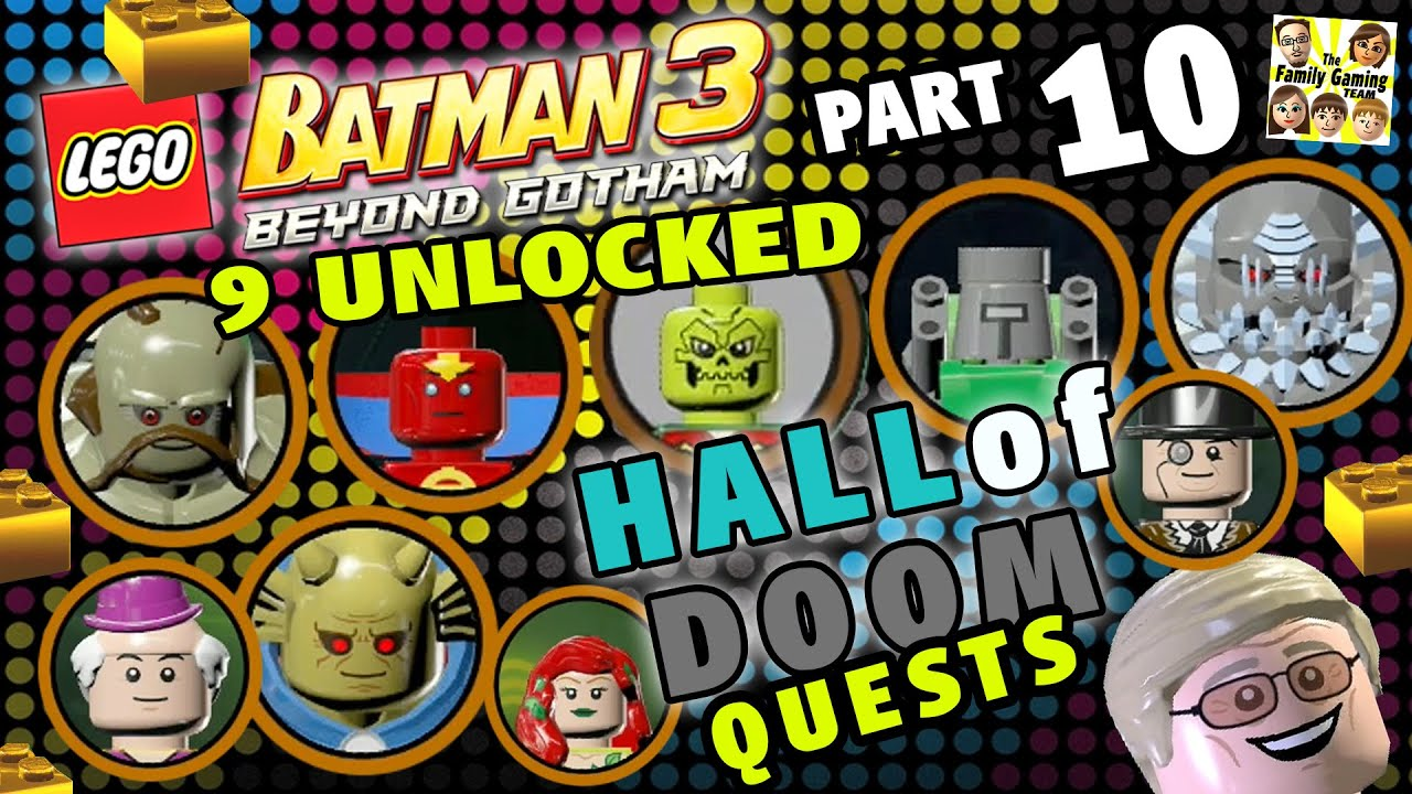 Lego Batman 3 Hall Of Doom Quests 9 Characters Unlocked