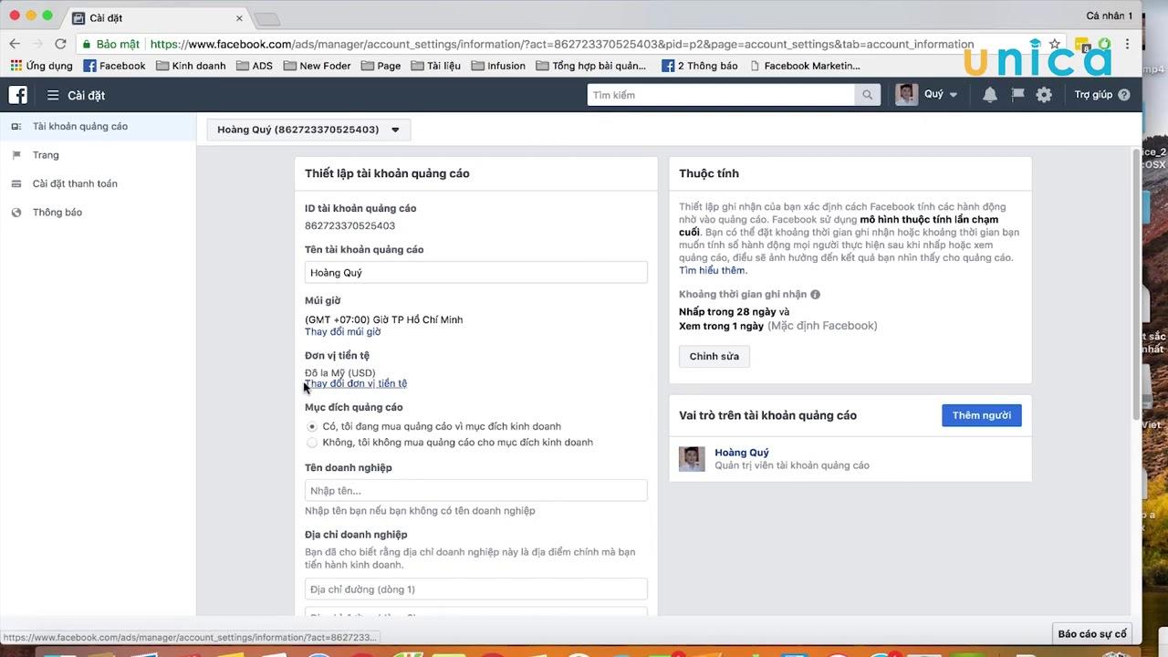 Khóa học chạy quảng cáo Facebook   Hướng dẫn cách tạo tài khoản quảng cáo Facebook