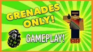 Pixel Gun 3D - Grenade-Only Gameplay!
