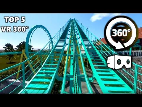 360 Video   Sky Loop Spinning Turbine Amusement Ride 4K