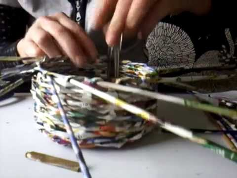 Top Tuto Eco Vannerie en papier : fin du panier - YouTube JV93