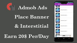 How to show ads in recyclerview in android studio || online earn from admob