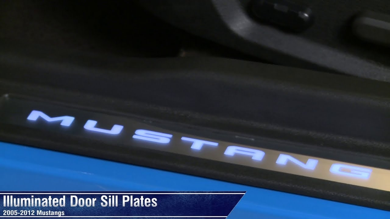 Mustang Illuminated Door Sill Plates 0512 All Review  YouTube