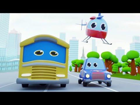 SCHOOL BUS NEED HELP | CAR STORIES CARTOON FOR KIDS