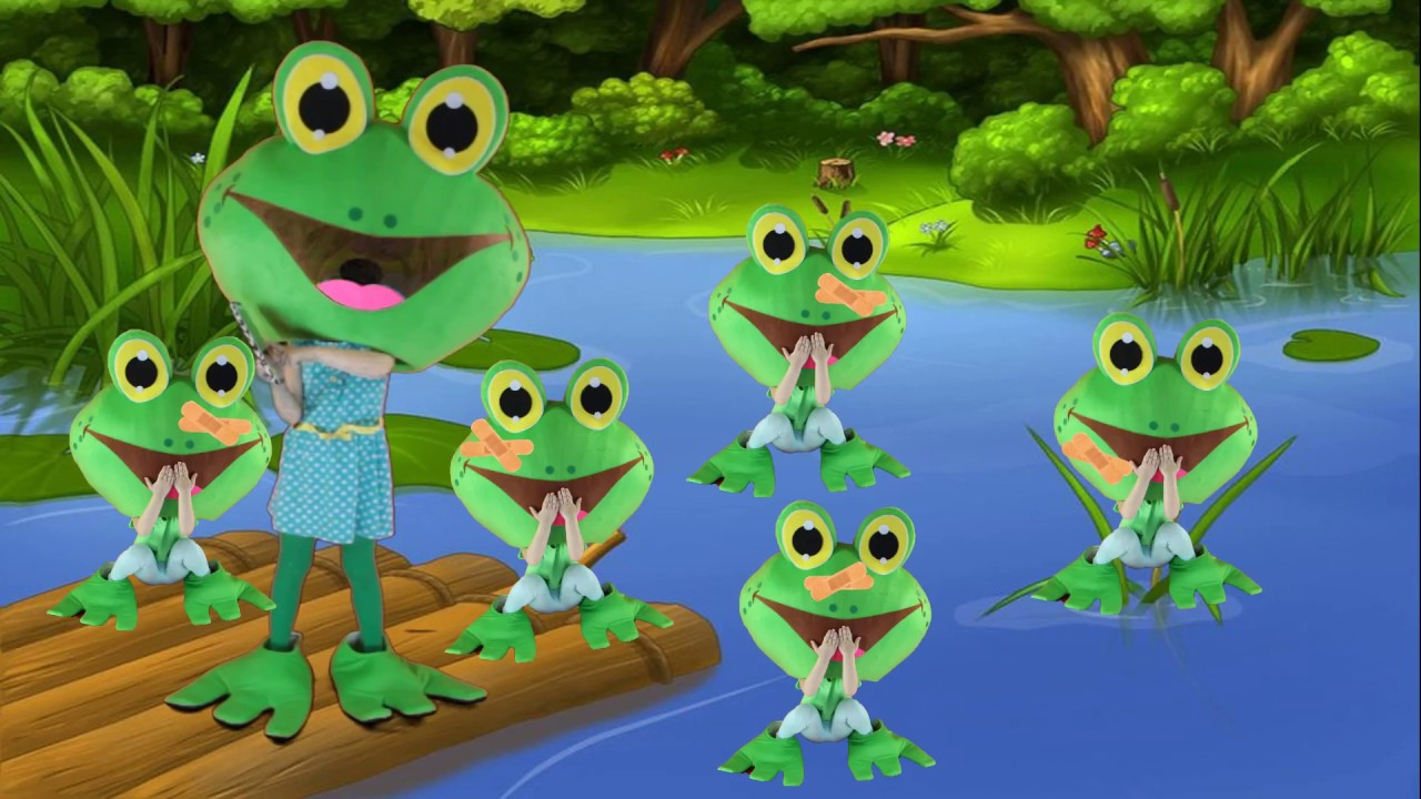 Five small frogs | Children's cartoons for boys | Video ...