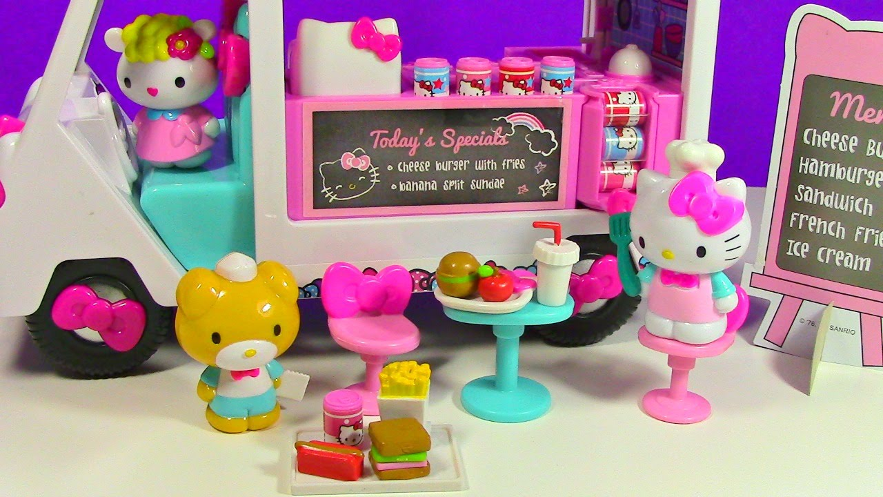 Hello Kitty Toy Food : Hello kitty food truck toy review unboxing youtube