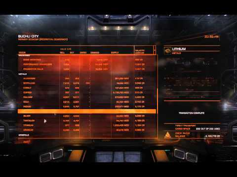 Elite Dangerous Trade Run: 600K in 25 minutes - Open Play