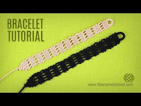 Easy Stripes Bracelet Tutorial | Macrame School