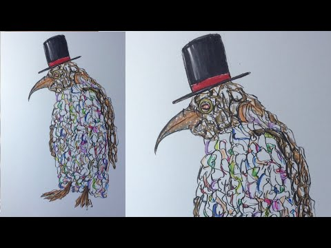 Colourful Eccentric Penguin