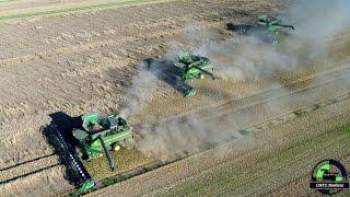 (Music/Sound) BIG Wheat harvest 2016 / 4 x John Deere S690 I & S 685 I Mähdrescher / Ernte 2016