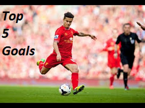 Philippe Coutinho: Top 5 goals (Liverpool)