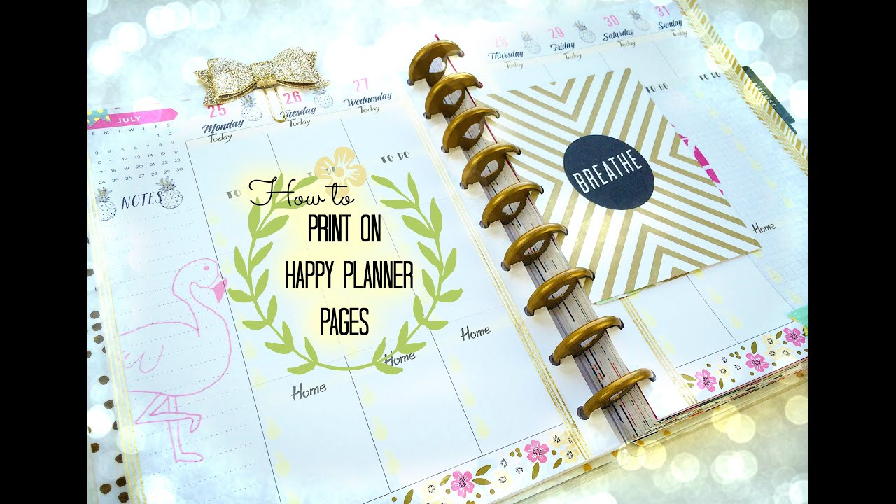 photograph regarding Happy Planner Monthly Layout Printable named Absolutely free Printable! + How in direction of Print Specifically On to Delighted Planner Internet pages + Program With Me