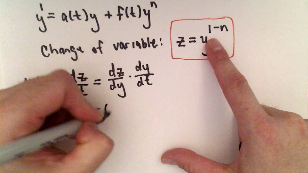 Bernoulli Equation For Differential Equations Part 1 Youtube