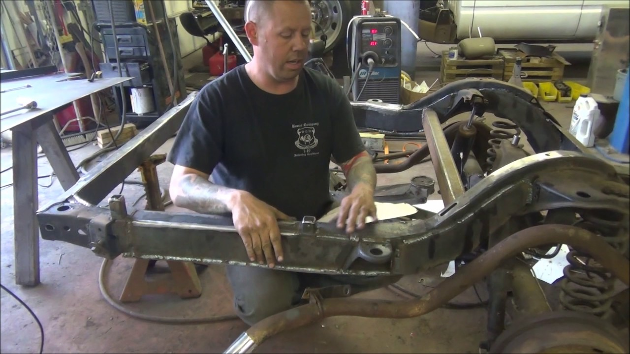 How to Frame Reinforcement on 1964 Impala Lowrider Hydraulics - YouTube