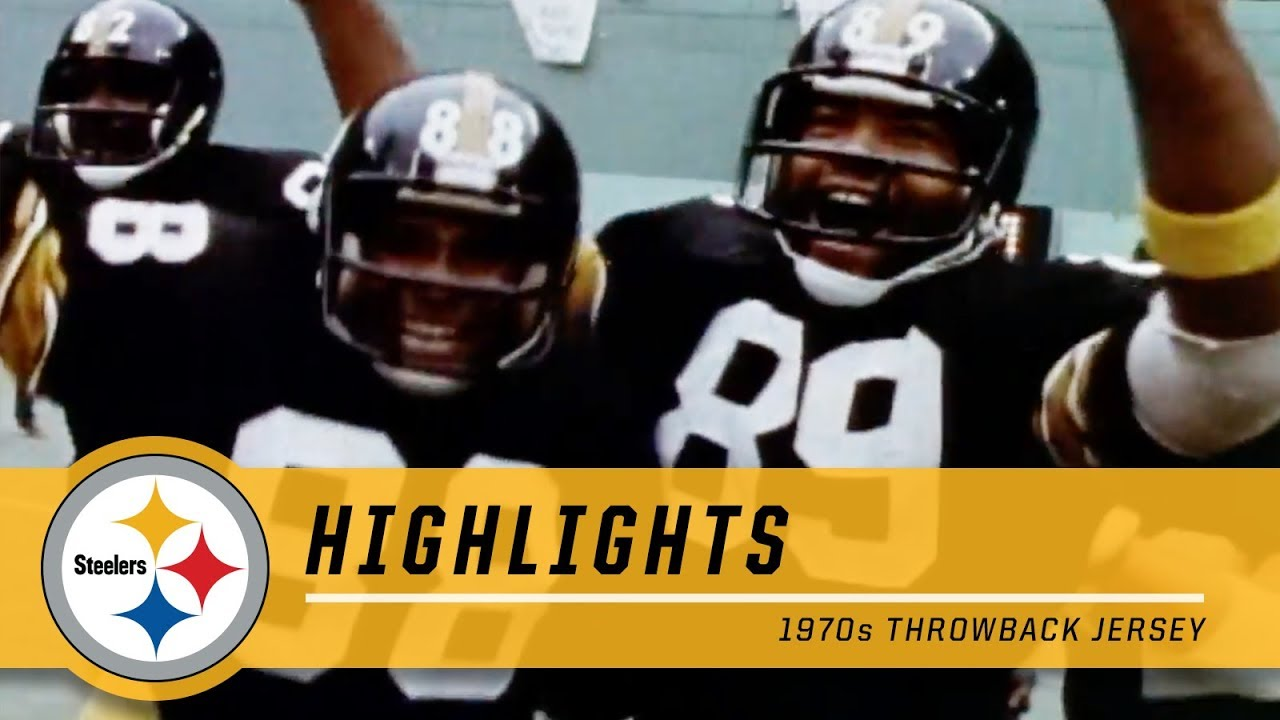sports shoes 37f58 2c877 1970s Highlights: Watch the 2018 Throwback Jersey in Action | Pittsburgh  Steelers