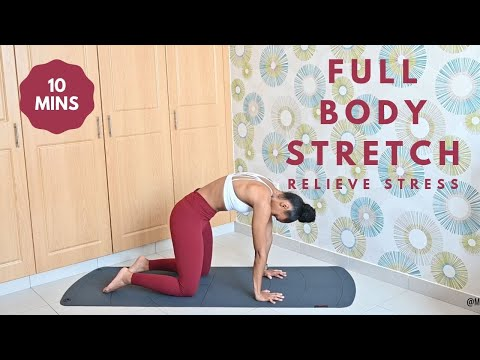 10 Minute Stretching FULL BODY -Stress Relief & Recovery