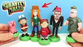 ЛЕПИМ ГРАВИТИ ФОЛЗ - ВЕНДИ, ЗУС и дядя СТЭН | Gravity Falls from clay