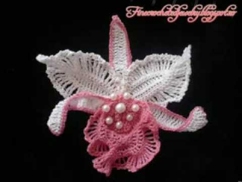 Crochet Orchids by Fine Crocheted Jewelry - YouTube