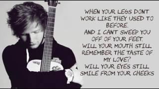 Thinking Out Loud Ed Sheeran Lyrics