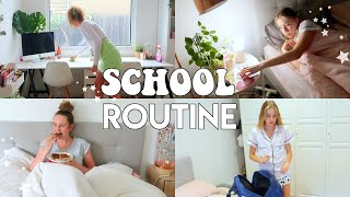 School Morning and Evening Routine! *tips for getting back into a high school routine*
