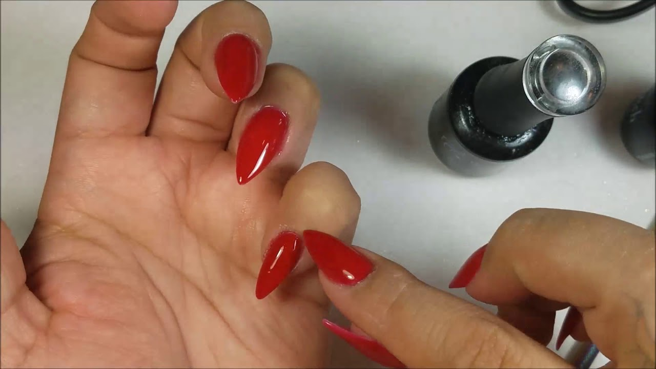 How To Change Nail Design On Press On Nails | Holo Silver & Red ...