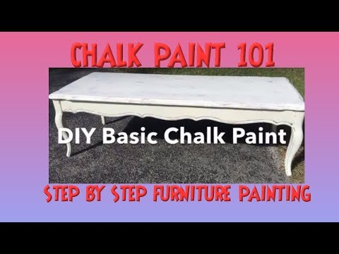 How to Use Chalk Paint 101  DIY Basic White Chalk Painting a Table The Basics Tutorial