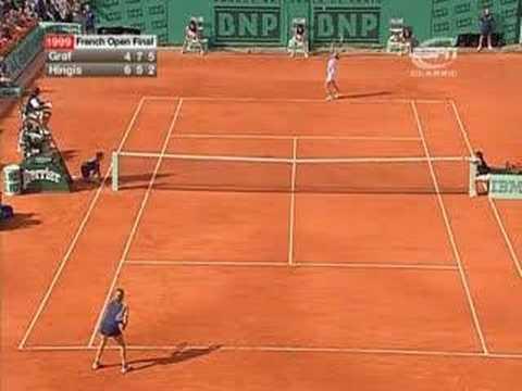 Graf vs Hingis 1999 FrenchOpen Final Highlights (3/3)