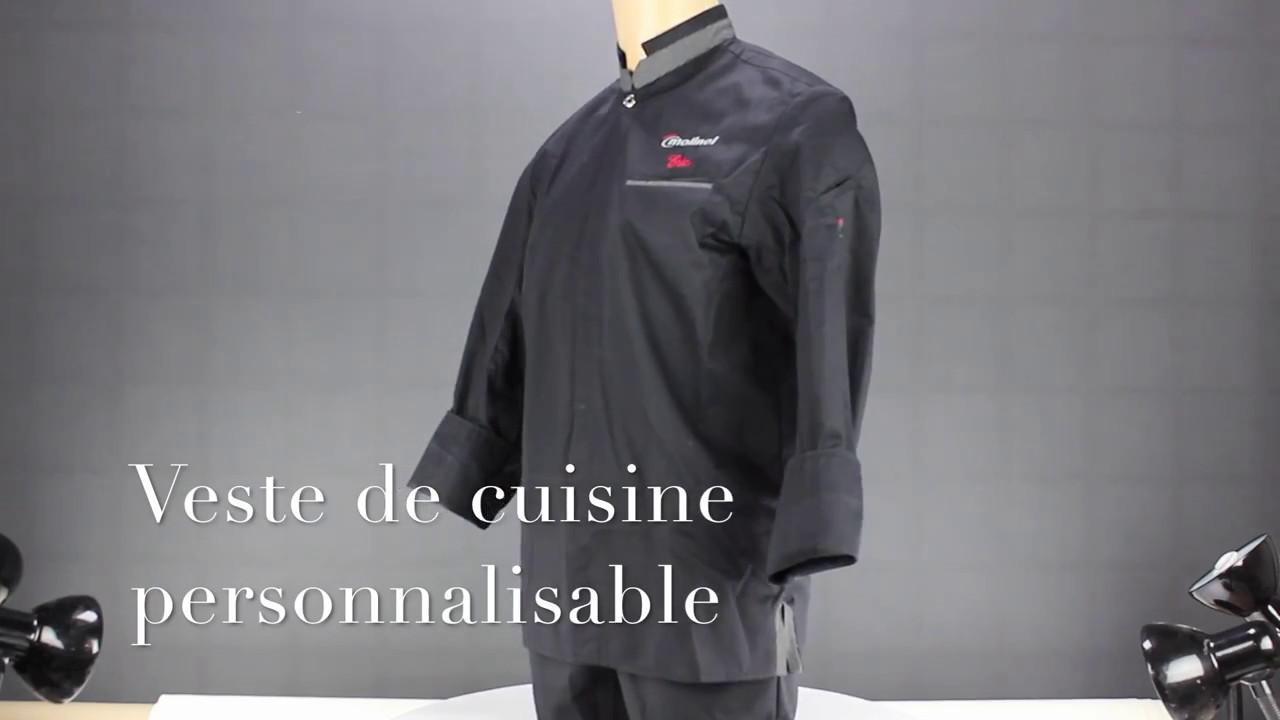 Veste De Cuisine Noir Personnalisable Youtube
