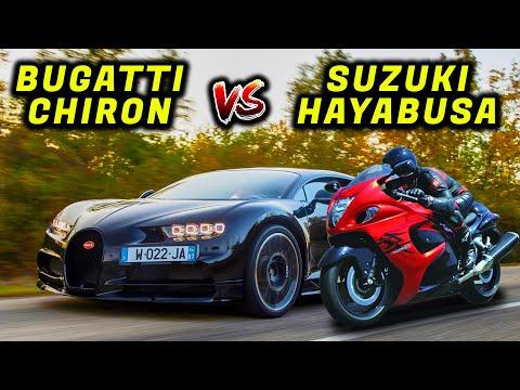 Suzuki Hayabusa vs Bugatti Chiron-Best Competition