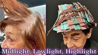Midlight, Lowlight, Highlight + Gray Coverage Hair Tutorial