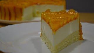 Йогуртовый Торт с Персиками (Райский Вкус)) Yogurt cake with peaches
