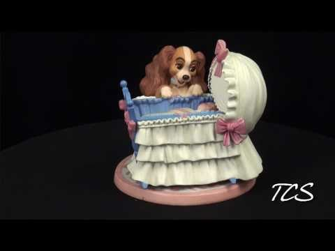WDCC Lady And The Tramp Lady And Cradle Welcome Little Darling