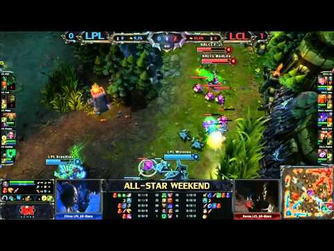 2013 ALL-STAR League of Legends final game Korean LCL vs Chinese LPL game 2