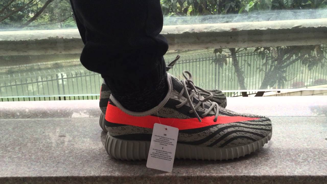 Adidas Yeezy boost 350 Orange stripes for sale - YouTube 8e057ef15