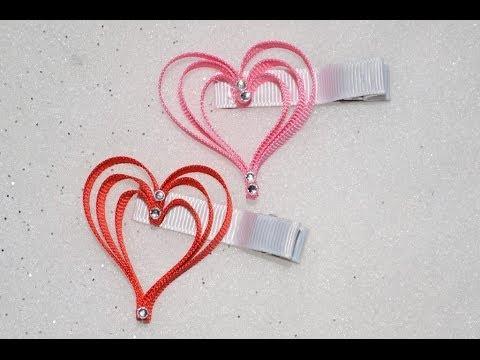3 layer heart ribbon sculpture